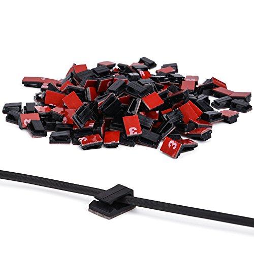 Ninonly Clips Cable 3M Adhesivo 200 pcs Grapas Cable