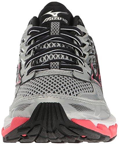 Mizuno Wave Paradox 3 Synthétique Chaussure de Course Grey-Black-Pink
