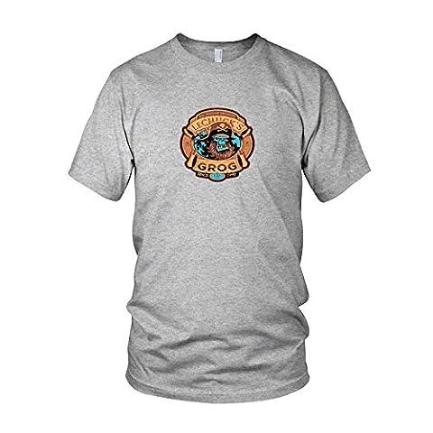 LeChuck's Grog - Herren T-Shirt, Größe: XL, Farbe: grau meliert