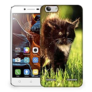 Snoogg Black Cat Designer Protective Phone Back Case Cover For Lenovo K5 Vibe