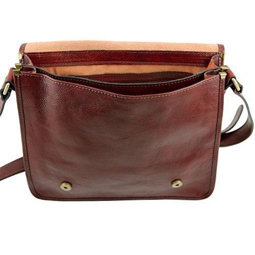Tuscany Leather - TL Postman - Borsa messenger in pelle Testa di Moro - TL141288/5 Testa di Moro