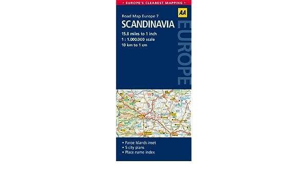 7. Scandinavia: AA Road Map Europe: Amazon.de: AA Publishing ...