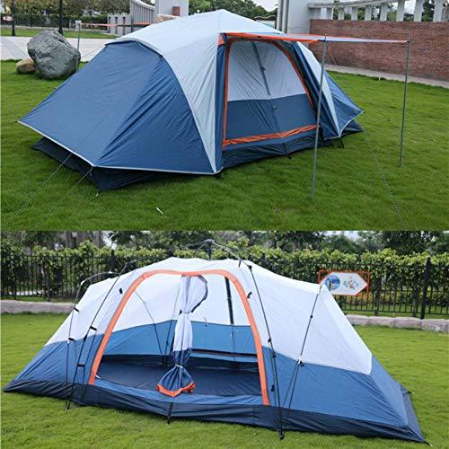 ZZPEO Automatische 5-8 Personen Multiplayer 410 * 210 * 155Cm Doppelschicht Outdoor Camping Familie 2 Zimmer Großen Raum Wasserdichtes Zelt -