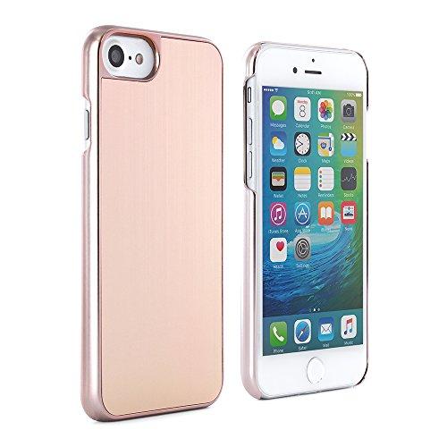 """PROPORTA® Slim Apple iPhone 8 / 7 (4.7"""" Zoll) Aluminium Hülle, Harte Back Cover Schutzschale aus Metall, Silber / Grau rose gold"""