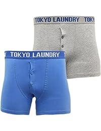Mens Tokyo Laundry Plain Boxer Short Underwear Pants Pack of 2