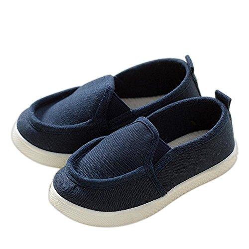 ALUK- Baby-Schuhe-Sport-beiläufige Segeltuch-Schuh-koreanische Version von einfachem Komfort ( farbe : Dunkelblau , größe : 31 ) Dunkelblau