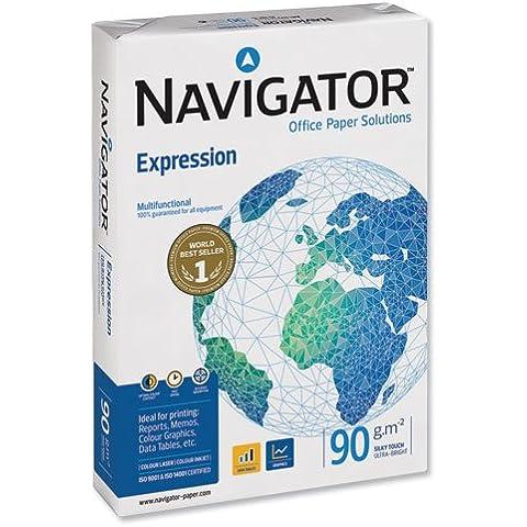 NAVIGATOR EXPRESSION 90gr - Papel para impresora de tinta A4, 90gr paquete de 500 hojas