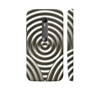Colorpur Chrome Circle Metal Print Artwork On Motorola Moto G Turbo Cover (Designer Mobile Back Case) | Artist: LebensART