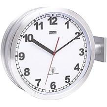 Horloge de gare double face en aluminium