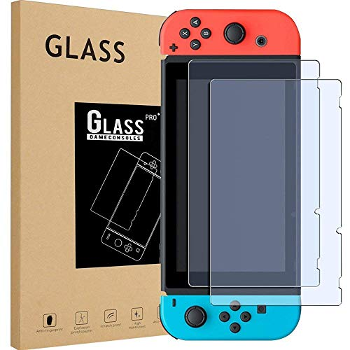 Playingg 2 PCS Switch Screen Protector Tempered Glass Premium HD Clear Anti-Scratch Screen Protector for Nintendo Switch - Pcs Screen Protector