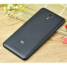 PREVOA ® 丨 Xiaomi Redmi NOTE 2 Funda - Original Batería Funda Reemplazo Cover Case Protictive Carcasa para Xiaomi Redmi NOTE 2 Smartphone 5,5 Pulgadas - (Negro)