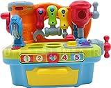 Werkzeug für Kinder mit Ton und Licht - Werkstatt - Werkbank Spielzeug - Kinderwerkbank - Kinderwerkzeug - Kinder Werkstatt - Klopfspielzeug - Hämmerspielzeug