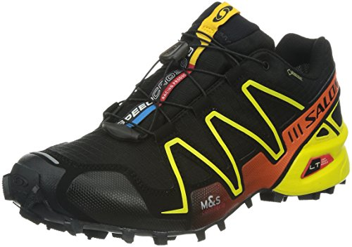 Salomon Speedcross 3 GTX, Scarpe sportive, Uomo Black/Canary Yellow/George Orange-X