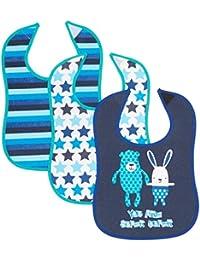 Care Babi1, Bufanda Para Bebés, Azul (Dark Navy), Talla Única (Talla Del Fabricante: One Size) ( lot de 3 )