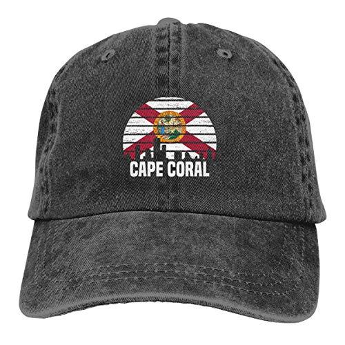 L Group City Silhouette Flag Adjustable Sport Jeans Baseball Golf Cap Hat Unisex Style ()