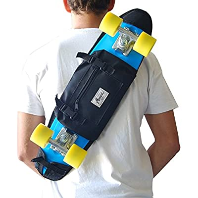 """Rucksäcke für mini cruiser 22"""", in schwarz. Trendiger Umhängerucksack Crossover Rucksack Schulterrucksack Slingbag Body Bag Crossbag Skaterrucksack. Monark Supply"""