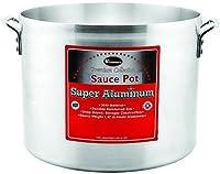 Winco USA Super Aluminum Sauce Pot, Extra Heavy Weight, 60 Quart, Aluminum