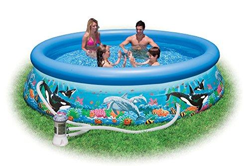 Intex 28126 - Piscina Easy Oceano con Pompa Filtro, 305 x 76 cm, Blu