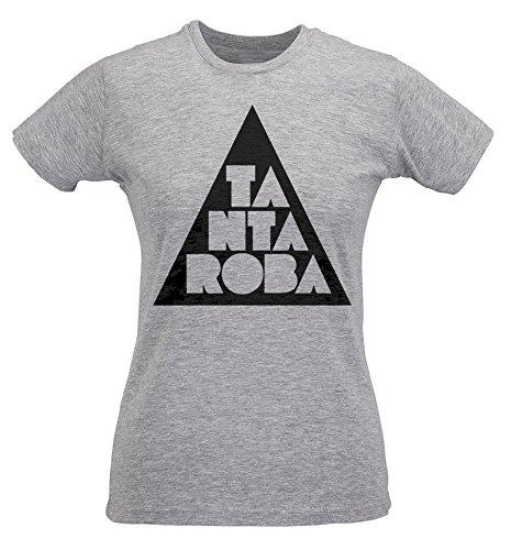 T-shirt Donna Slim Tanta Roba - Maglietta 100% cotone ring spun LaMAGLIERIA Grigio