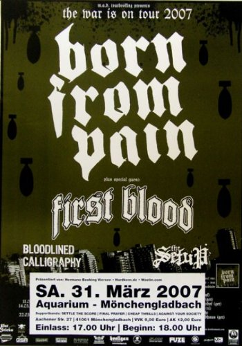 Born from pain-First Blood-Concerto Poster-2007-Tour Poster-Poster