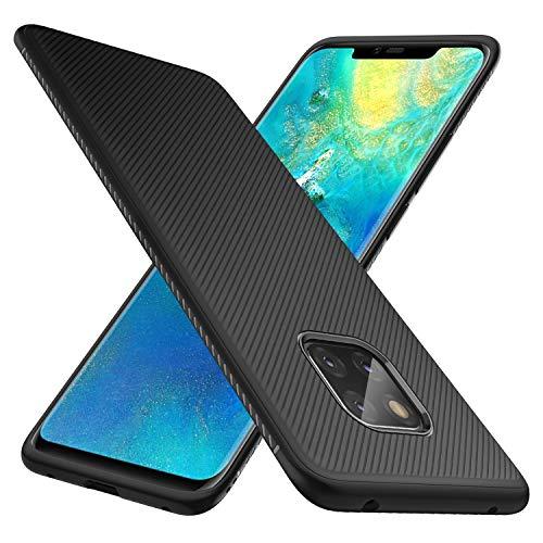 iBetter Huawei Mate 20 Pro Hülle, [Schwarz Soft Hülle] Ultra Thin Silikon Schutzhülle Tasche Soft TPU Hüllen Handyhülle für Huawei Mate20 Pro Dual-SIM Smartphone