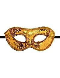 Máscara Venecia plástico venizia Fasching Máscara Facial o decoración, dorado