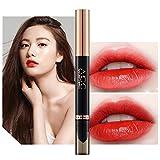 Nouveau Mode Matte,Rouge à LèVres Longue DuréE Double Tenue Lip Liner Mat Etanche 9 Couleurs À C Gloss Long Lasting Lipstick
