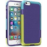 """iPhone 6 / 6s Funda – [Ultra Hybrid] HanLuckyStars Funda Carcasa Case TPU Matte Shell Exact Bumper Tope Shock Protección Gota Anti-Arañazos , Choque Absorción Borrar Espalda para Apple iPhone 6 / 6s 4.7"""" (Amarillo/Azul)"""