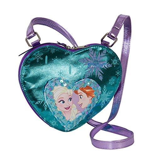 Disney frozen cuore magico - borsa da bambina con tracolla regolabile - colore celeste