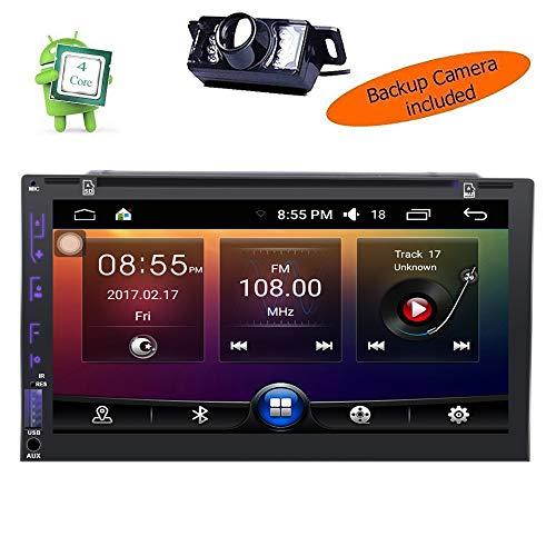Caméra de recul Incluent Android 17,8 cm GPS lecteur DVD de voiture Quad-Core 3d GPS SAT Navigation radio stéréo tout Moment. Autoradio Bluetooth prise en charge Wifi 4 G/3G OBD2 USB télécommande Cam-in