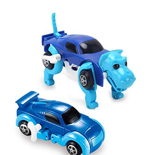 Sammlung Transformator-spielzeug (Huihong Verformbarer Dinosaurier Auto Transformator Neuheit Uhrwerk Auto Kinder Spielzeug Kinder Spielzeug Geschenk (Farbe zufällig))