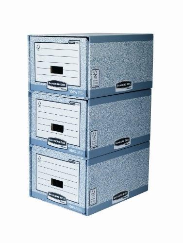 Bankers Box System Schubladenarchiv (Folio/Legal Format) 5 Stück grau