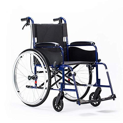 Leichte Rollstühle 16kg tragbarer Faltbarer medizinischer Stuhl Bequeme Armlehne Rückenlehne Sitz 100kg Tragelager 46 * 41cm Sitz & ergonomischer Rollstuhl