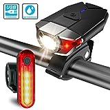 ITSHINY Set di luci per la bicicletta batteria ricaricabili e...