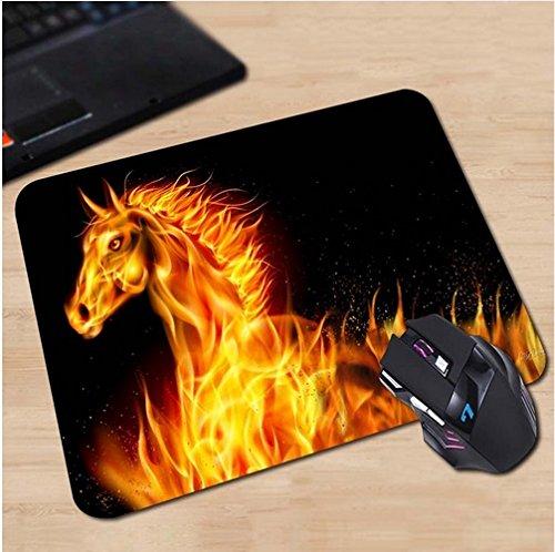 Preisvergleich Produktbild Brennendes Pferd im Feuer Mauspad Anti-Rutsch, Wasserfest 220x180 Veredeln Sie Ihren Schreibtisch mit diesem eleganten Mauspad