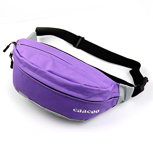 caacoo Cool Bum Tasche/wasserdicht Taille Pack/Fanny Pack für draußen Workout Reisen Casual Laufen Wandern Radfahren violett