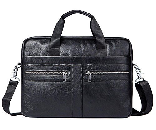 BAAFG Business Männer Aktentasche Hohe Kapazität Männer Tote Kann 14-Zoll-Laptop Aufnehmen,Black-OneSize
