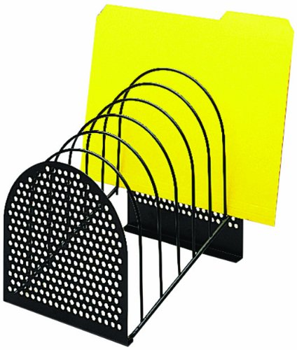 Fellowes Perf-ect Step File, Seven 1 1/8 Inch Compartments, Wire, Black (22303) by Fellowes
