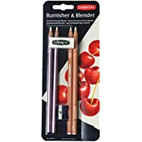 Derwent 2301774 Blender and Burnisher Pencil Blister Pack Plus Eraser and Sharpener - Set of 4