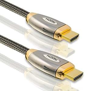 CSL - 7,5m Platinum High Speed (HQ) HDMI Kabel with Ethernet (Netzwerk) & Echt 3D / ULTRA HD / x.v.Color und Deep Color / ARC - CEC / Alustecker /Dreifach-Abschirmung / Standard 1.4a | 1080p | 2160p | 4k | 7,5 Meter