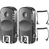 Neewer 2,4G mando a distancia inalámbrico disparador de flash transceptor par con mando a distancia Cable de obturador para Nikon Cámaras réflex digitales, como D7200D7100D7000D5100D5000D3200D3100D600D90D800E D800D700D300s D200D4D3