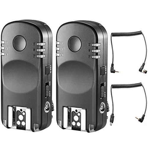Neewer 2.4G Wireless Fernbedienung Blitzauslöser Transceiver Paar mit Fernauslöser Kabel für Nikon DSLR-Kameras, wie D7200D7100D7000D5100D5000D3200D3100D600D90D800E D800D700D300S - Nikon Blitz-auslöser