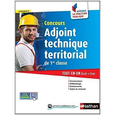 Concours Adjoint technique territorial de 1re classe