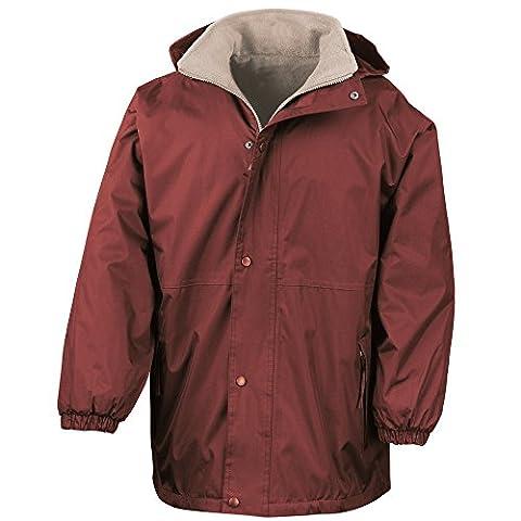 Résultat réversible tempête Dri 4000 Fleece Jacket Bourgogne/chameau 2XL