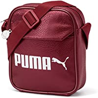 Puma Campus Portable PU Bag, Unisex Adulto, Pomegranate/Metallic, OSFA