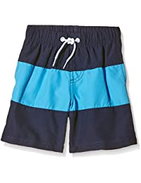 Miami Beach Swimwear Jungen Badeshorts mit Block-Print