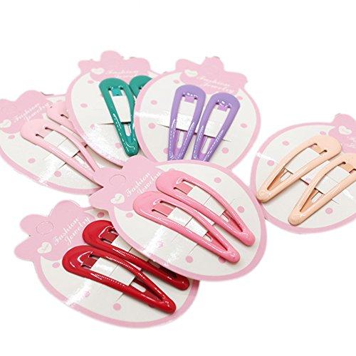 Scrox 6 Paar schöne Kind Haarnadel bunte Haarnadeln BB Clips für kleine Mädchen Geschenk Haarschmuck