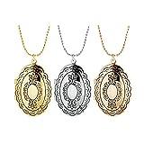 Amulett Silber Zum Öffnen Damen Halskette Zart Damen Medaillon Zum Öffnen Mit Kette Silber Oval Blumen Spiegel Form Anhänger Halskette Mit Kostenlos Gravur