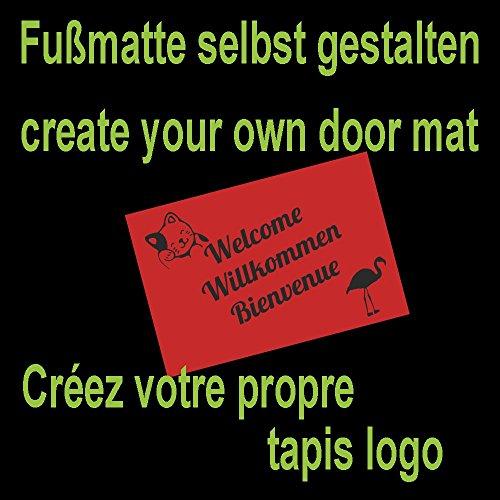 WohnDirect Fußmatte selbst gestalten I Geschenk mit ihrem Namen/Bild / Logo I große Auswahl, (115x200cm Braun)
