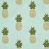 Fabulous Fabrics Dekostoff Ottoman Ananas - Babyblau -